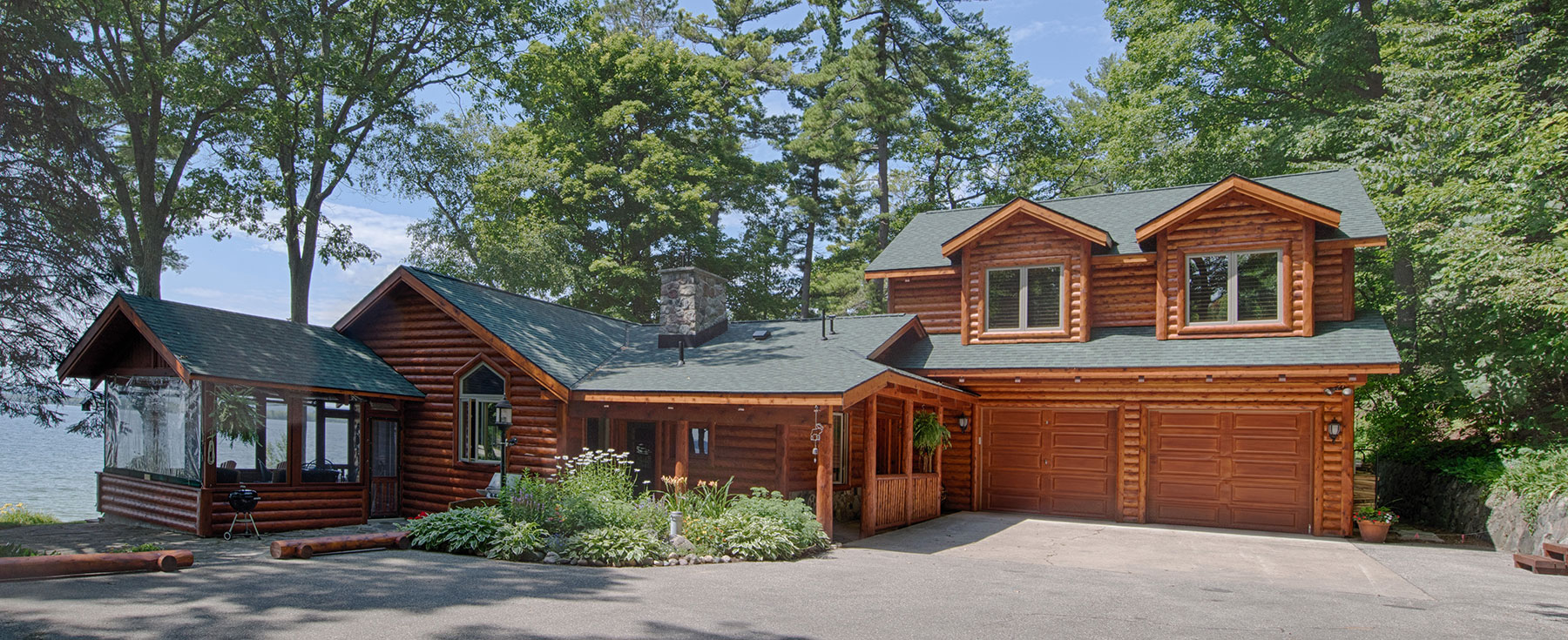 Burt Lake Home Log Exterior Remodel Addition
